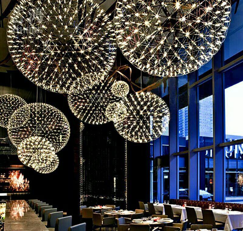 Bar Light Modern Firework Pendant Lights Bar Led Stainless