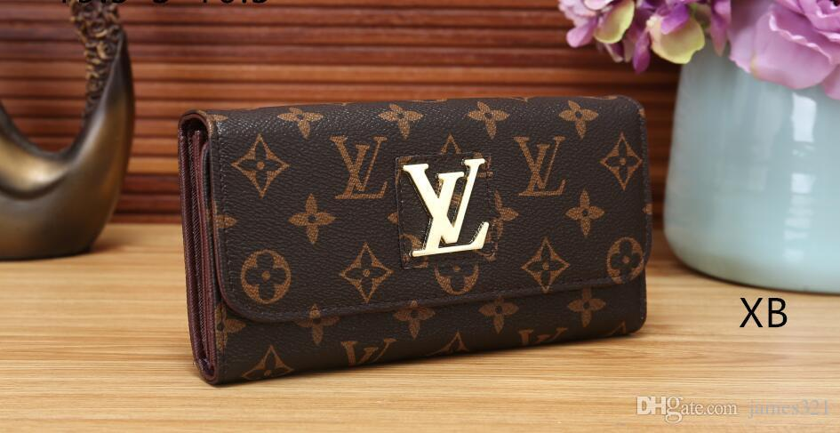 Women Wallet Pu Leather Long Purse Zipper Metal Circle Decor XXL