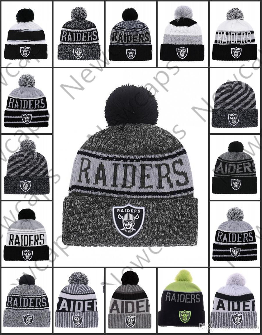 e775cab813e Wholesale Oakland Sport Winter Hats Raiders Stitched Team Logo Brand Warm  Men Women Hot Sale Knitted Caps Cheap Mixed Beanies Baseball Caps Custom  Hats From ...