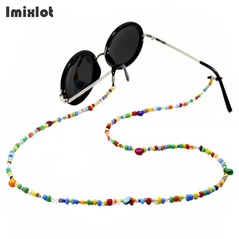 f74eff79e614 2019 Fashion Women Eyeglass Chains Colorful Glass Beads Chains Anti Slip Eyewear  Cord Holder Neck Strap Reading Glasses Rope From Sara001