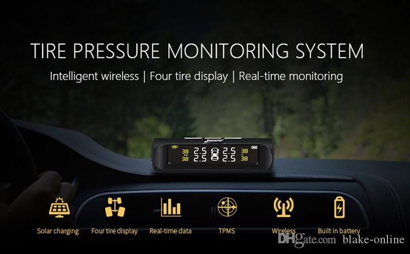 스마트 자동차 TPMS 타이어 압력 모니터링 시스템 태양 광 발전 외부 센서 디지털 LCD 디스플레이 자동차 보안 경보 시스템 타이어 압력