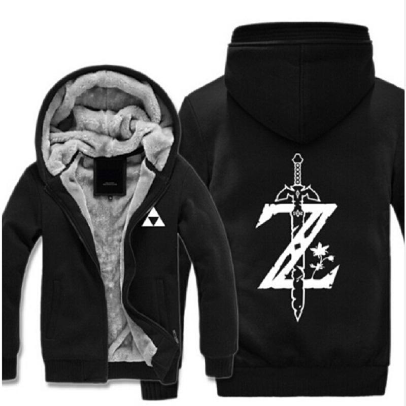 Men's Clothing Couple The Legend Of Zelda Hoodie Breath Of The Wild Zip Up Sweatshirt