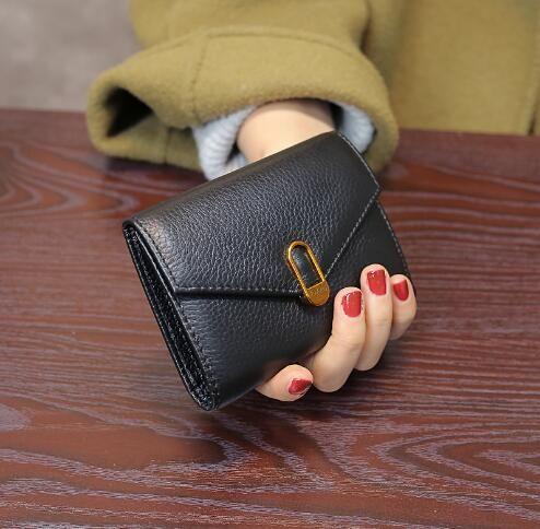 51e6c723cc48 Euro-American Tide 2018 New Leather Short Purse Women s Three-discount  Retro Cowskin Card Location Wallet Wallets Cheap Wallets Euro American Tide  2018 New ...