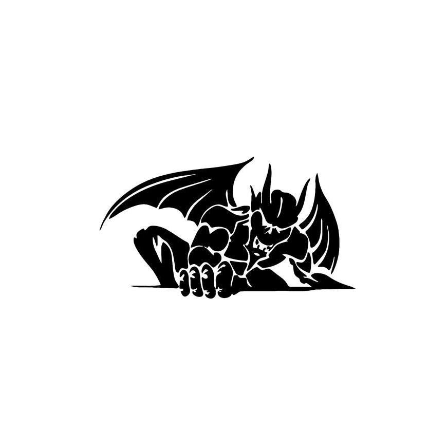 2019 Gargoyle Monster Home Decor Car Truck Window Decal Sticker Accessories Motorcycle Helmet Styling From Xymy797 483