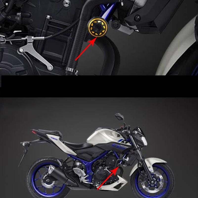 For Yamaha MT03 MT 03 MT-03 2015 2016 2017 Frame Sliders Crash Pads Engine Protector Guard Motorcycle Accessories Falling
