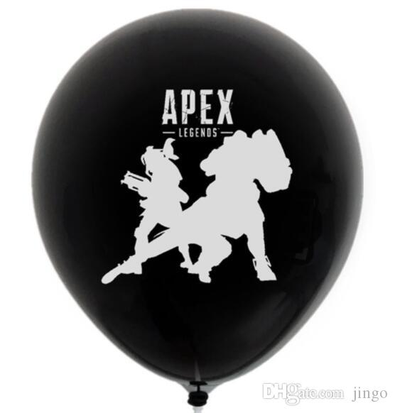 DHL 12inch Apex Legends Balloons letter cartoon Latex ballons Birthday Party Supplies decor supplies kids toy gift