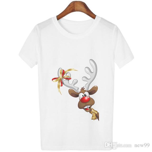 4d9e3dfff 2019 Mens Designer T Shirts New Year White Harajuku Christmas Cute Gifts  Animal Print T Shirts Cartoon Kawaii Short Sleeve Funny Tee Shirt Funny  Print ...