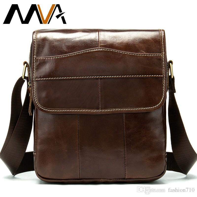 336297053 Compre MVA Messenger Bag Sacos De Ombro Dos Homens De Couro Genuíno  Ocasional Pequeno Flap Para Ipad / Book Crossbody Bag Para Homens Sacos De  Couro 1121 De ...