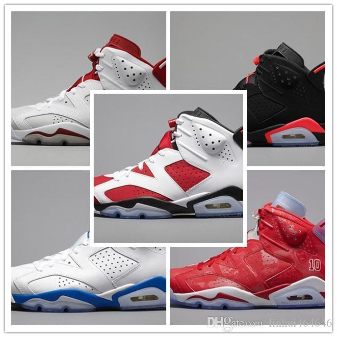 official photos c78e8 db054 2019 New 6 Golden 6s VI Harvest Wheat Gatorade Unc Men Basketball Shoes  Black Cat Infrared Carmine MAROON Sports Sneakers