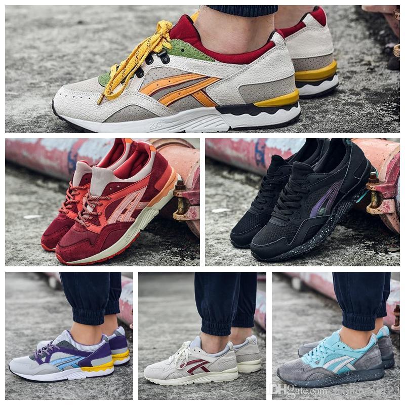 Asics Gel Lyte V 2019 Hommes Femmes Chaussures De Course H5U1N 9001 H60RK 1189 Multicolore En Ligne Bottes Designer Sneakers Chaussures De Sport