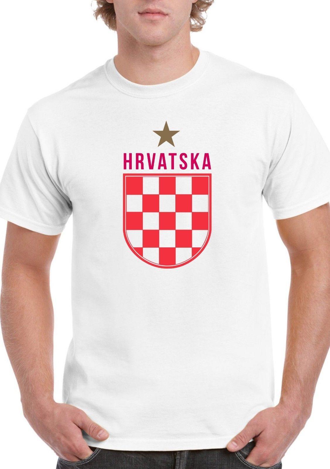 beb7c2ba846d Hrvatska Gold Star T Shirt Croatian Red White Croatia World Cup Winners  2018 Funny Unisex Latest Designer T Shirts Coolest Tees From Pickapair, ...
