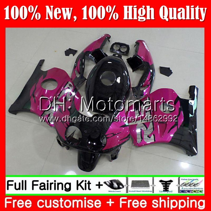 Injection +Tank For HONDA CBR 250RR CBR250RR 90 95 96 97 98 99 77MT15 MC22 Rose black CBR250 RR 1995 1996 1997 1998 1999 Fairing Bodywork