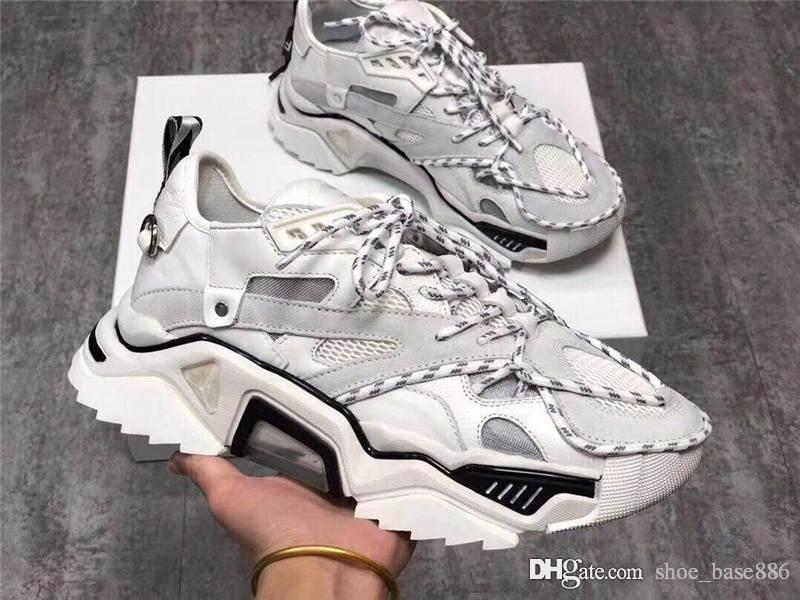 19SS Triple S Strike Sneakers, Men & Women Old Daddy Casual Shoes Lace-Up Mesh Upper Oversized Strike 205 Sneaker With Box Size 35-44
