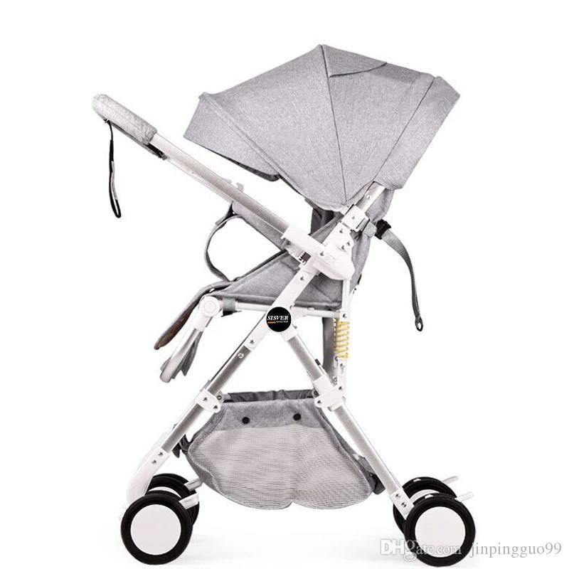 2019 New High Landscape Baby Stroller Two Way Can Sit Reclining