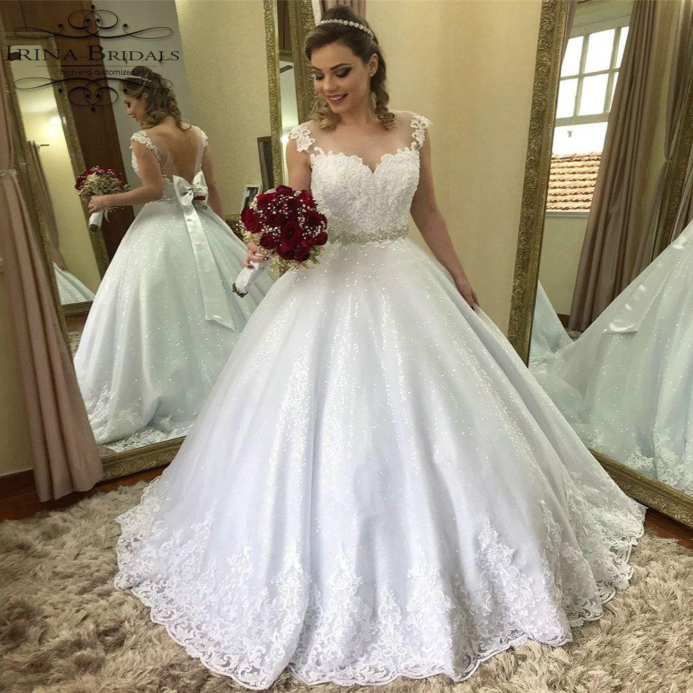 d0a66d168e4a Vestidos De Novia Vintage Cap Sleeve Lace Applique See Through Back Snow  White Wedding Dress Inexpensive Wedding Dresses Red Wedding Dress From ...