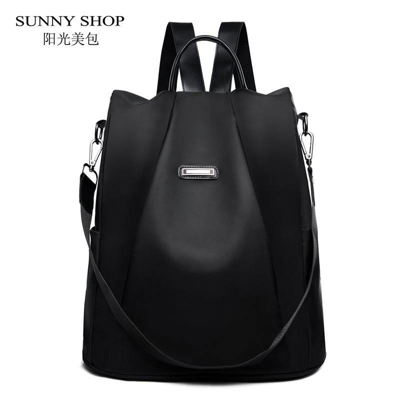 Casual Korean Style Oxford Backpack Female Anti Theft Women Bagpack Fashion Waterproof Light Weight School Bag Adolescent Girls Y19061102