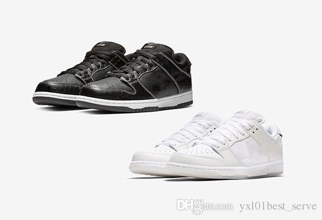 more photos 01aa8 c7526 2018 Diamond Supply Co. X SB Dunk Low White Black Yellow Fashion Running  Shoes For Top Quality Men Women Brand Sports Sneakers 36 45 Shoes On Sale  Ladies ...
