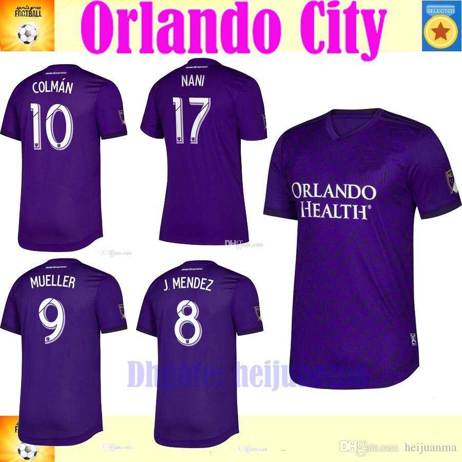 45e3ebe65ff 2019 2020 MLS Club Orlando City Home Soccer Jerseys 19 20 #10 COLMAN ...