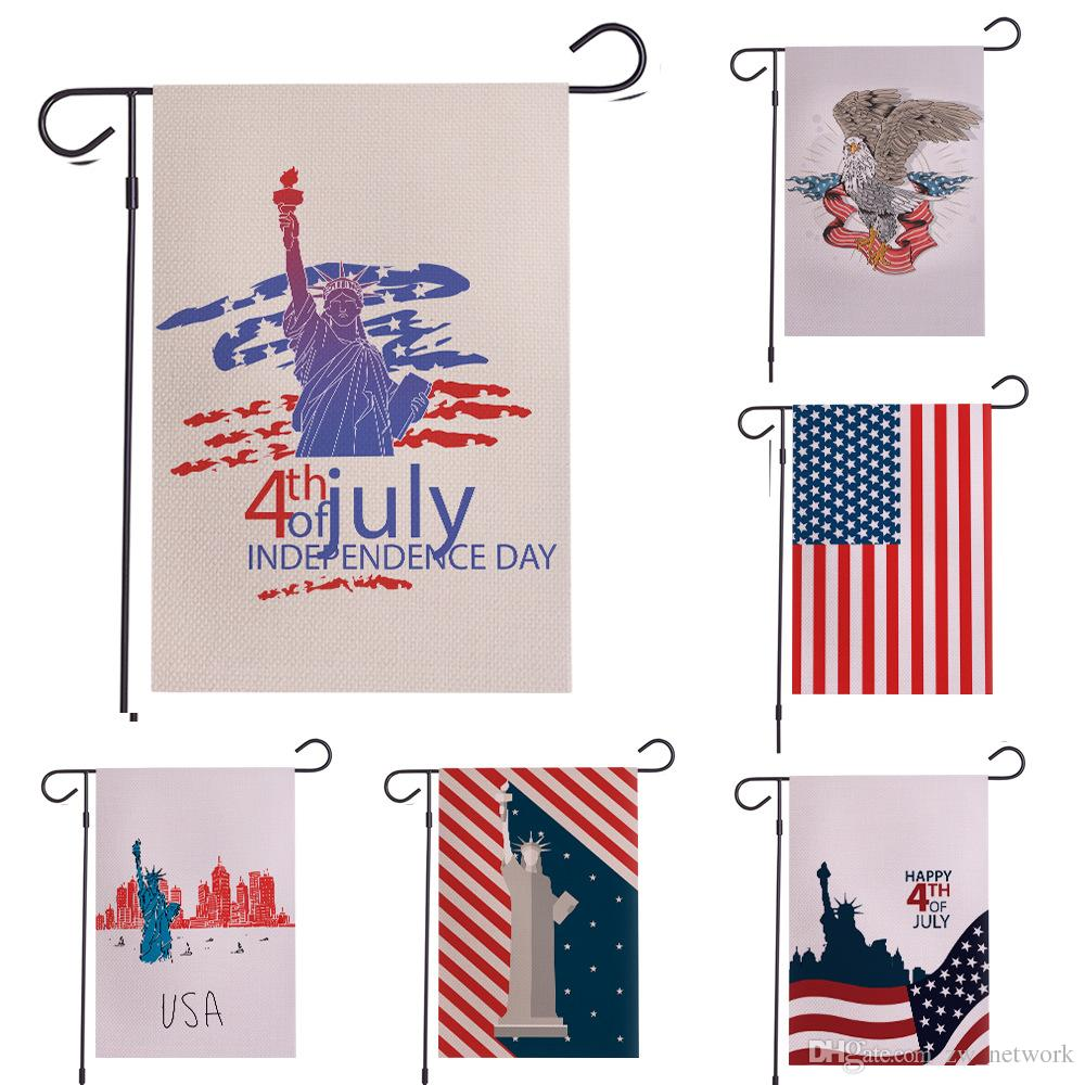 2019 Fourth Of July Garden Flag American Flag Independence Day