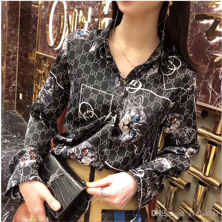 New Floral Print Women Blouse Summer Long Sleeve Shirt Printed Blusa Feminina Womens Tops And Blouses