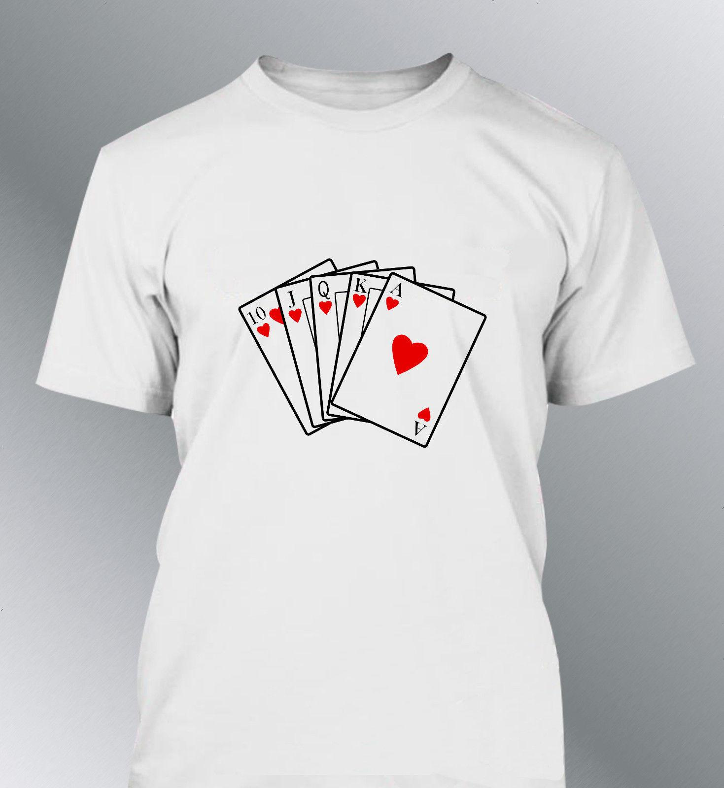 6306053c2ee8 Tee Shirt Personnalise Poker M L XL XXL Homme Col Rond Funny T Shirts  Prints Funky T Shirt Design From Integrity067