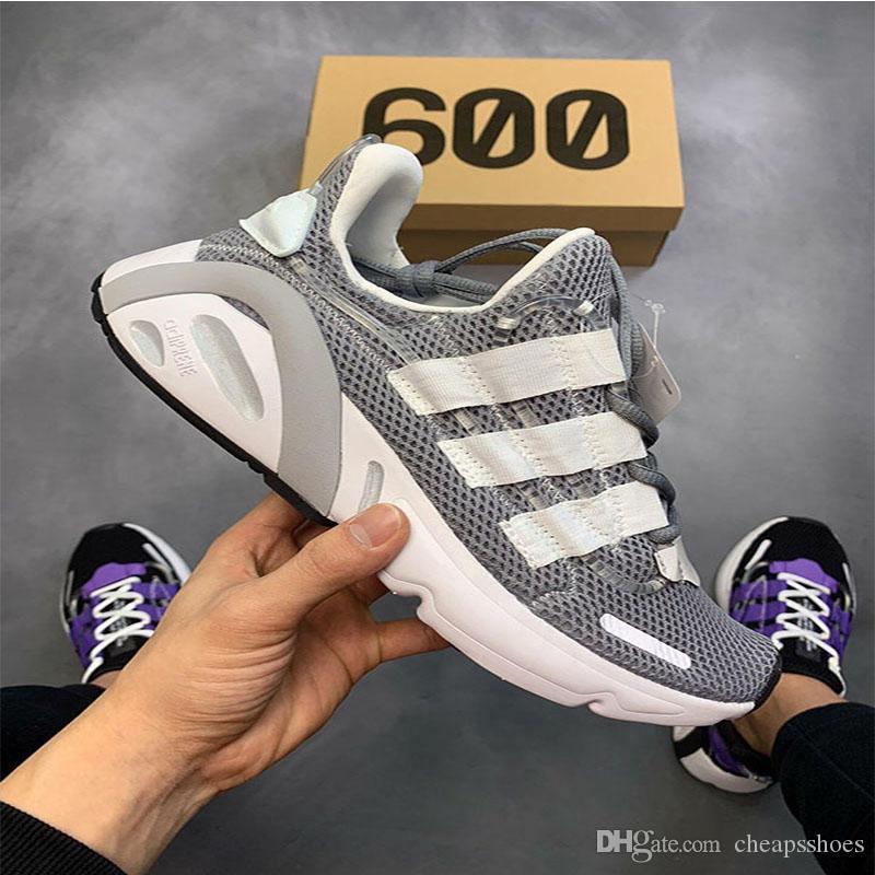 298a41b19a Compre Novos Originais 600 Kanye West Tênis De Corrida Homens Sapatos  Femininos Sapatos Vermelhos   Preto   Branco   Azul   Cinza Tênis  Esportivos Cor Com ...