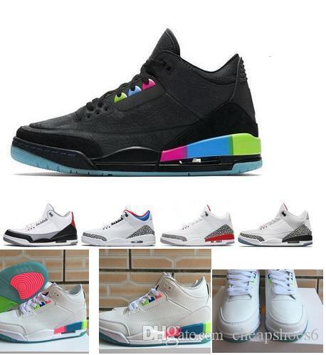 2275c697eaaf65 Kids Big Boy Shoes Release 3 Retroty Quai 54 Friends   Family 3S Basketball  Shoes For Women WHITE ELECTRIC GREEN INFRARED 23 With Original Gym Shoes  For ...