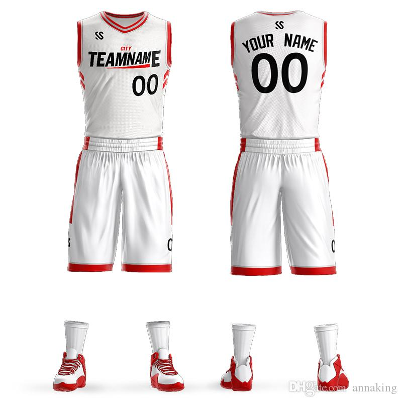 2019 Men's Youth kids Custom Basketball jerseys sets same star quick dry DIY Team College Basketball Uniform Wears Big Size