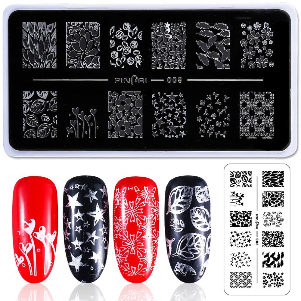 photograph about Printable Nails named Stainless Metallic Nail Artwork Stamping Plate Flower Animal Geometry Stamp Template Manicure Nail Stamping Graphic Plates Stencil F528