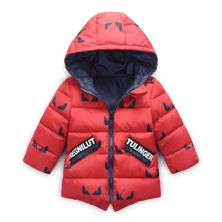 98e84fa15fb7 Baby Boys Jacket 2019 New Winter Jackets For Boys Sports Hooded Down ...