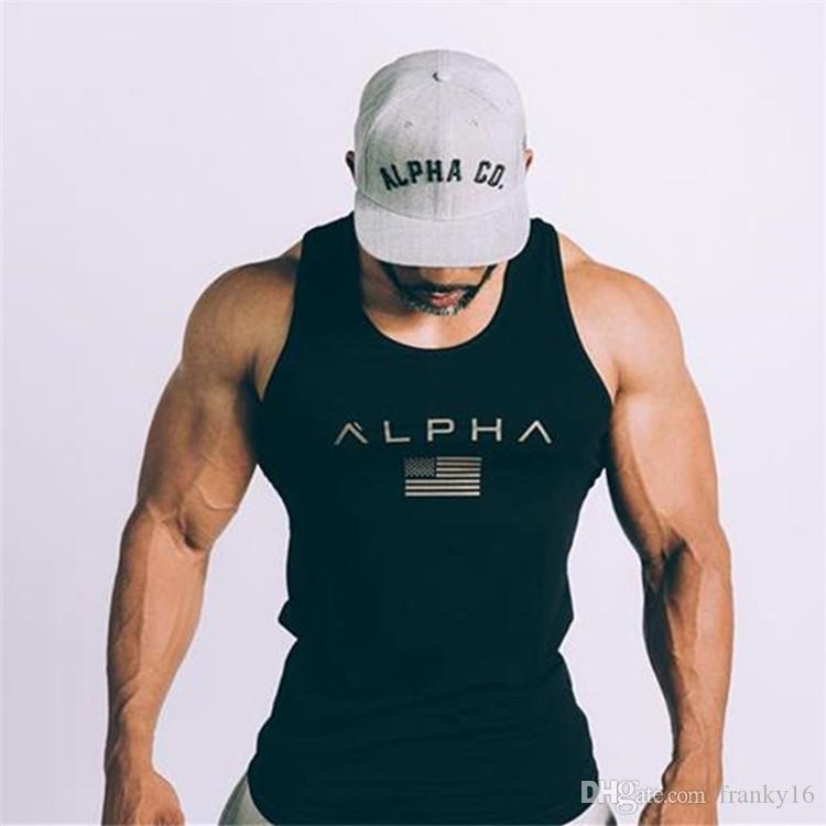 Nouveau respirant hommes Fitness Fitness Sports de plein air Tanks Top Slim Summer Fashion Tendance Cotton Vest M à 2XL