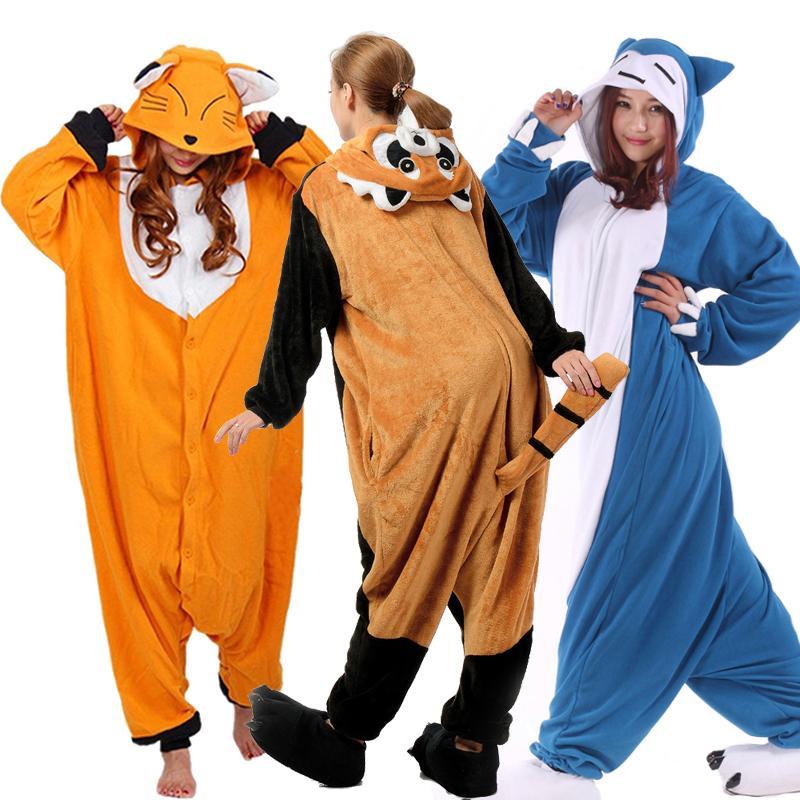 Image of: Halloween Costumes 2019 Romper Nightwear Adult Cartoon Animal Raccoon Unisex Onesie Red Panda Pajamas Costumes Sleepwear Halloween Kugurumi Cosplay From Pagoda Dhgatecom 2019 Romper Nightwear Adult Cartoon Animal Raccoon Unisex Onesie Red