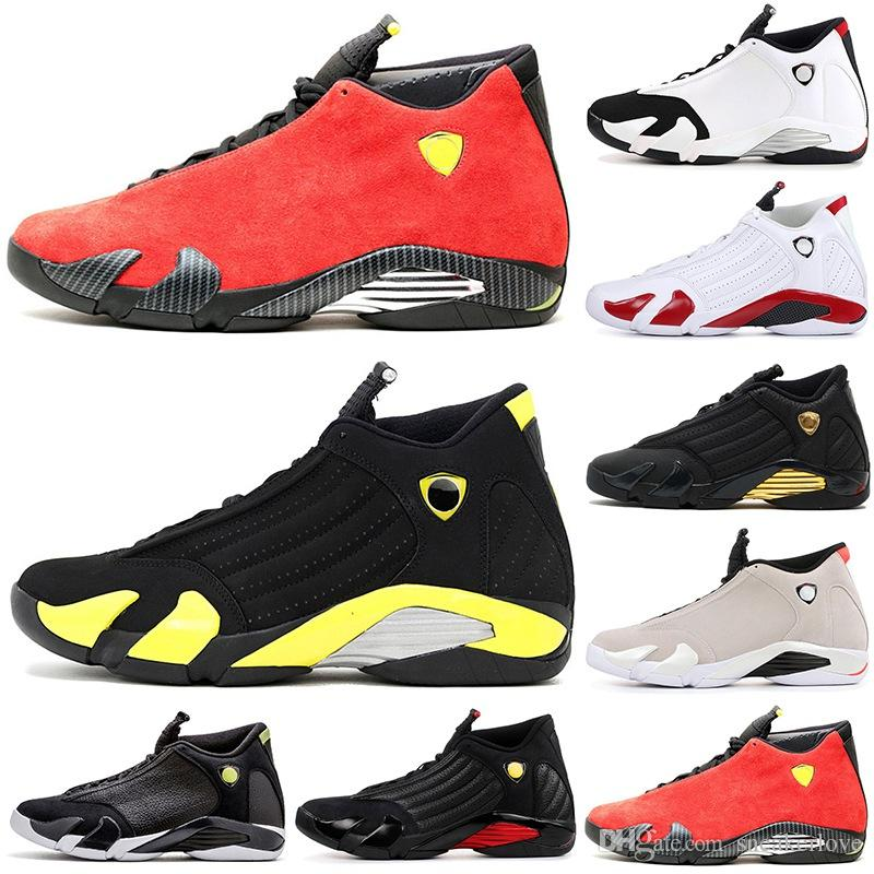 premium selection 8aa25 4c8df new Designer Basketball shoes 14 14s Red black toe candy cane defining  moments desert sand Indiglo mens Athletic sports sneakers 7-12