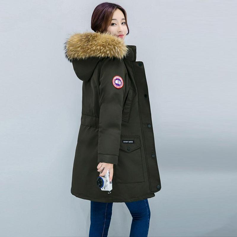 f4b024f26f6cf 2019 Winter Jacket Women Big Fur Hooded Parka Long Coats Cotton Padded Warm  Thicken Winter Coat Women Ladies Girls Outwear From Tayler