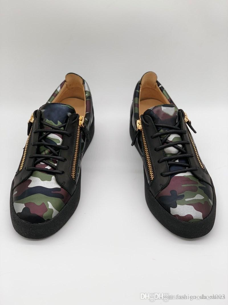 11d87aac83622 Men Leather Sneakers With Double Gold Zipper