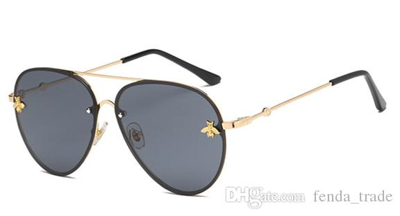 e7d9ad9b4dd4 2019 Cute Small Bee Sunglasses Women Men Vintage Fashion Metal Sun Glasses  Retro Gold Shades Black Pink Silver Eyewears UV400 Best Sunglasses For Men  ...
