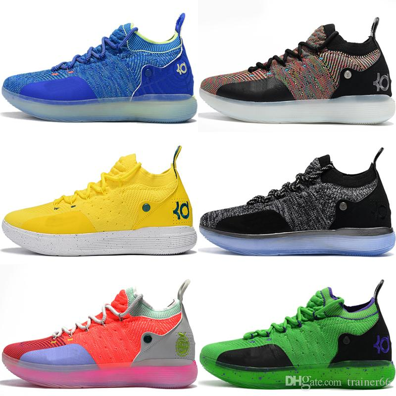 b50f1ee6dd88 2019 KD 11 EP Elite Basketball Shoes KD 11S Oreo White Gold Ice Blue  Multicolor Peach Jam Mens Trainers Kevin Durant All Star BHM Sneakers From  Trainer66