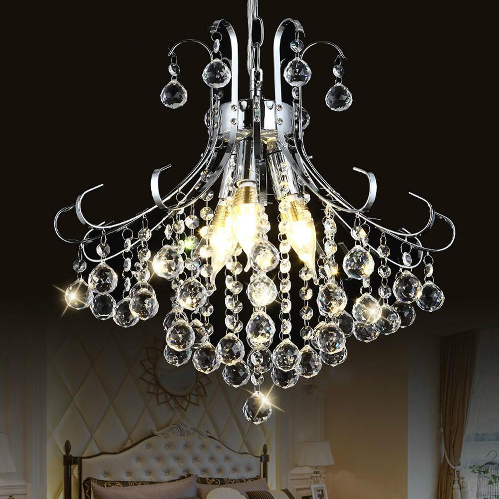 Modern led lustre crystal chandelier lighting for dining living room candle chrome ceiling chandeliers lamp indoor light fixture star chandelier wedding