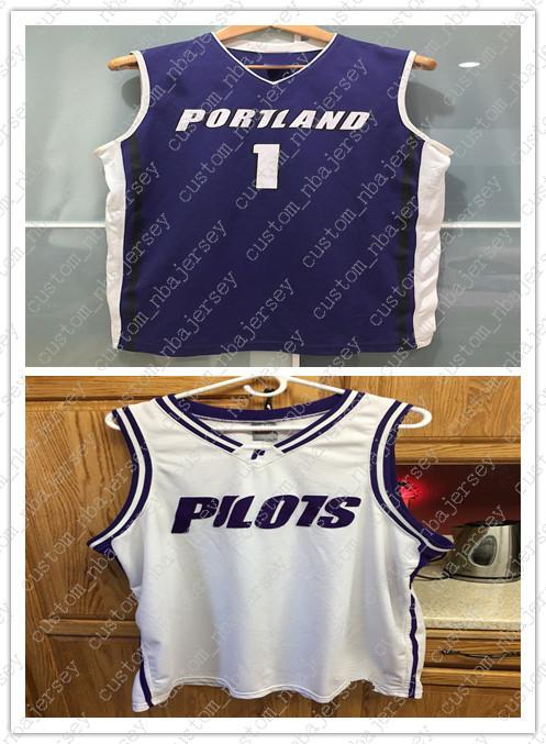 6f621707b 2019 Cheap Custom Portland Pilots NCAA Basketball Practice Jersey WHITE  PURPLE Stitched Customize Any Number Name MEN WOMEN YOUTH XS 5XL From ...