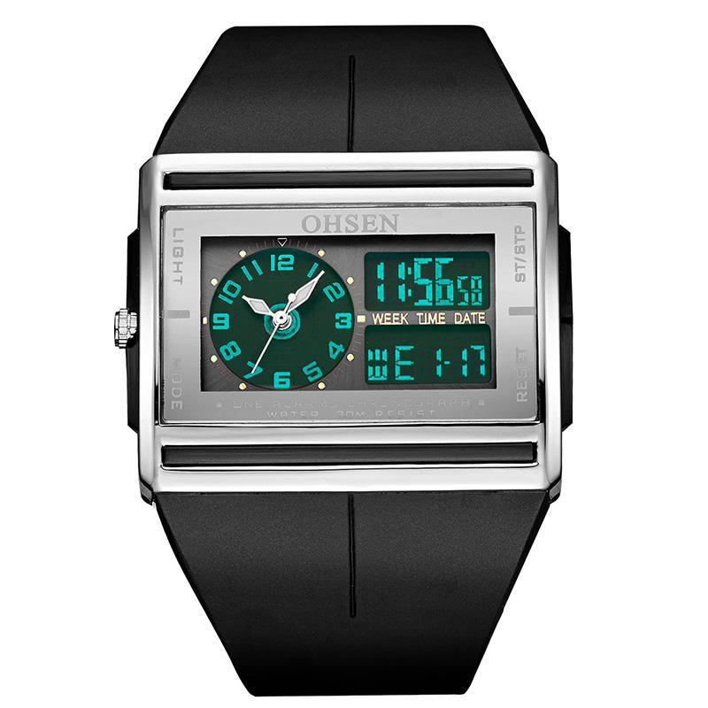 Compre Luminoso Reloj Digital Para Hombres Fecha De Luz LED Reloj Deportivo  Para Hombre Reloj Hodinky De Caucho Impermeable De Cuarzo Analógico Relojes  De ... a9eb48931b33