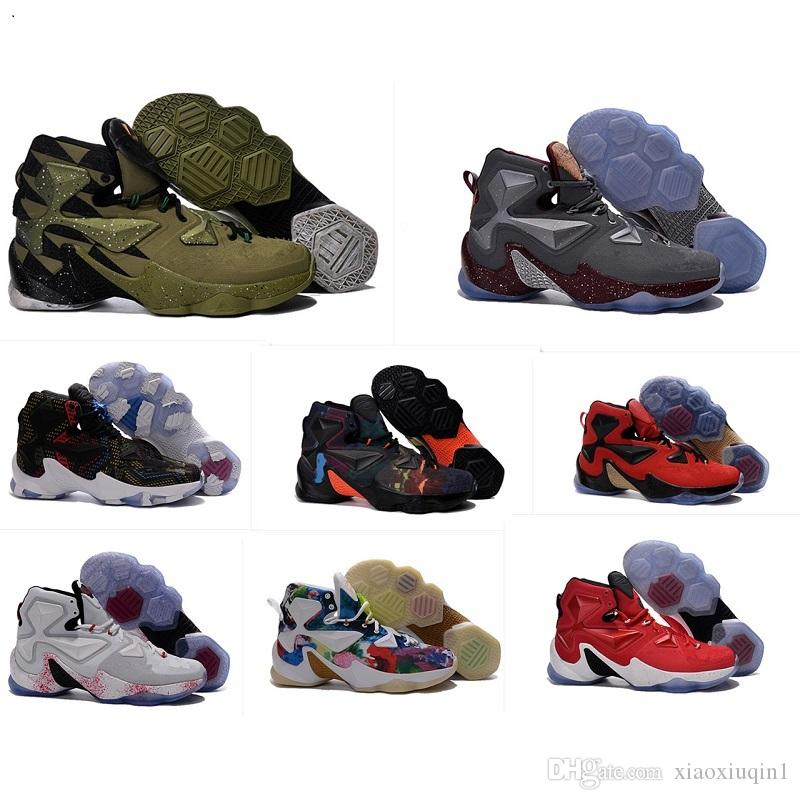 buy popular 55bbd f8241 2019 What The Lebron 13 XIII Shoes Mens Basketball For Sale Lebrons  Colorful Christmas BHM Blue Easter Halloween Akronite DB Sneakers Size 7 12  From ...