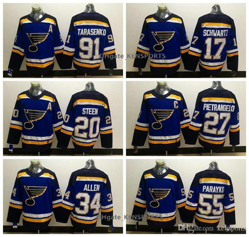 Men s Hot St. Louis Blues Hockey Jersey  91 Vladimir Tarasenko ... b5e0dbfe9