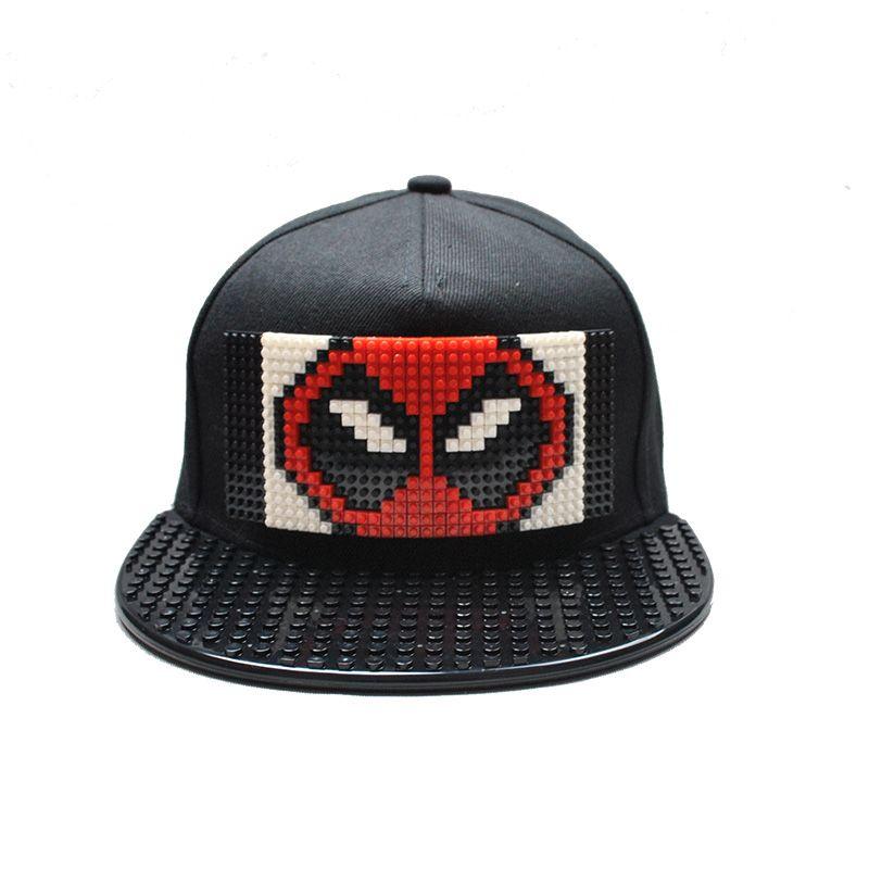 cef77fb4b57 Movie Deadpool 2 Baseball Cap Men Blocks DIY Patchwork Hat Snapback Hip Hop  Hat For Women Detachable Leather Hats The Game Hats From Ancient88