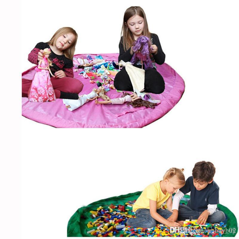 1.5M Portable Kids Toys Storage Bag and Play Mat LegoToys Finishing Home Organizer Bin Box Fashion Practical Storage Bags highcapacity