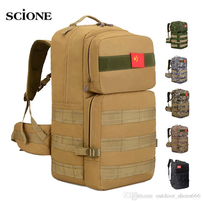 dc0e5f9d1884 2019 50L Camping Rucksack Tactical Military Molle Backpack Backpacks Hiking  Outdoor Bag Camo Mohila Army Sports Bags Tatico XA660WA  108755 From ...