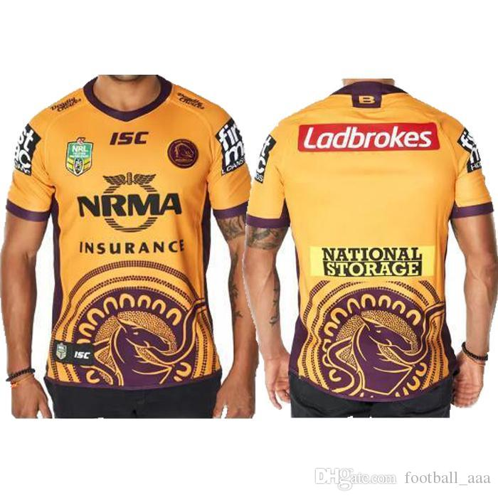 AAA+2018 2019 Brisbane Broncos INDIGENOUS JERSEY NRL National Rugby League  Rugby Shirt Brisbane Bronco Rugby Jerseys Shirts S 3xl UK 2019 From  Football aaa 9f274eb27