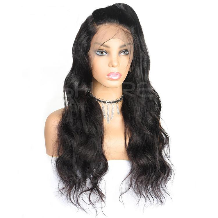 Body Wave Human Hair Lace Wig Lace Front Wigs Remy Hair Virgin Hair Natural Color Black Two or more Items are Discounted