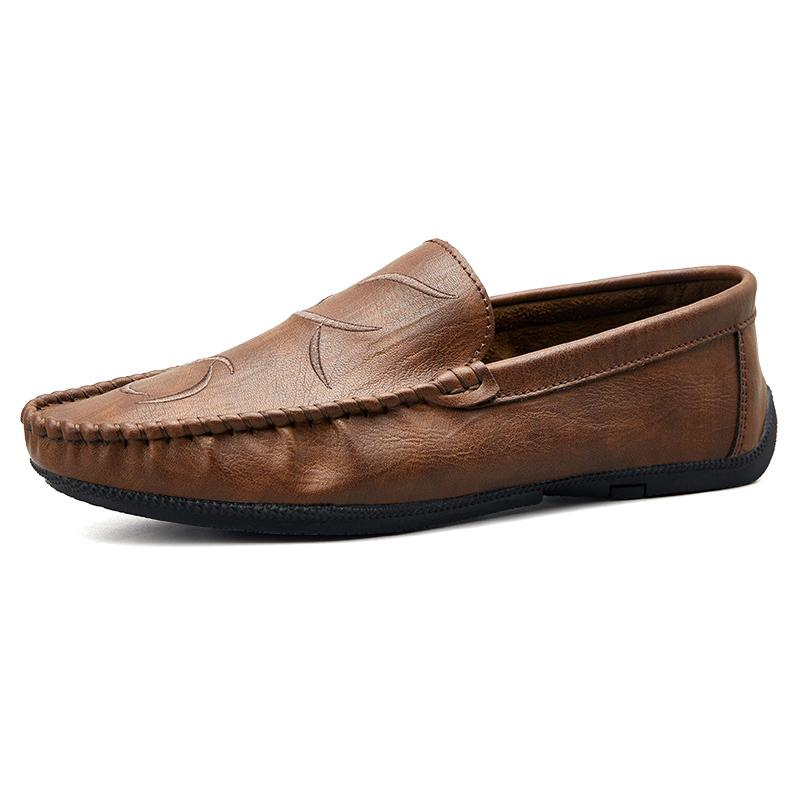 4884b594b8 2019 Fashion Men Split Leather Loafers Slip On Soft Luxury Man Flats Casual  Driver Shoes Brown Black Spring Male Driving Shoe Slip On Shoes Formal Shoes  ...