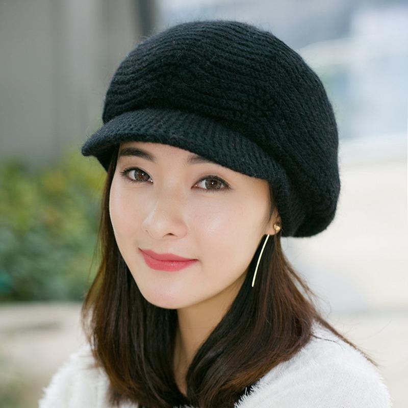 Compre Otoño Invierno Mujer Sombrero De Punto Cap Beret Gorros Moda Beret  Sombreros De Punto Gorras Para Damas Elegante Moda Caliente Gorros Boinas A   38.14 ... 7b7a22c27e4