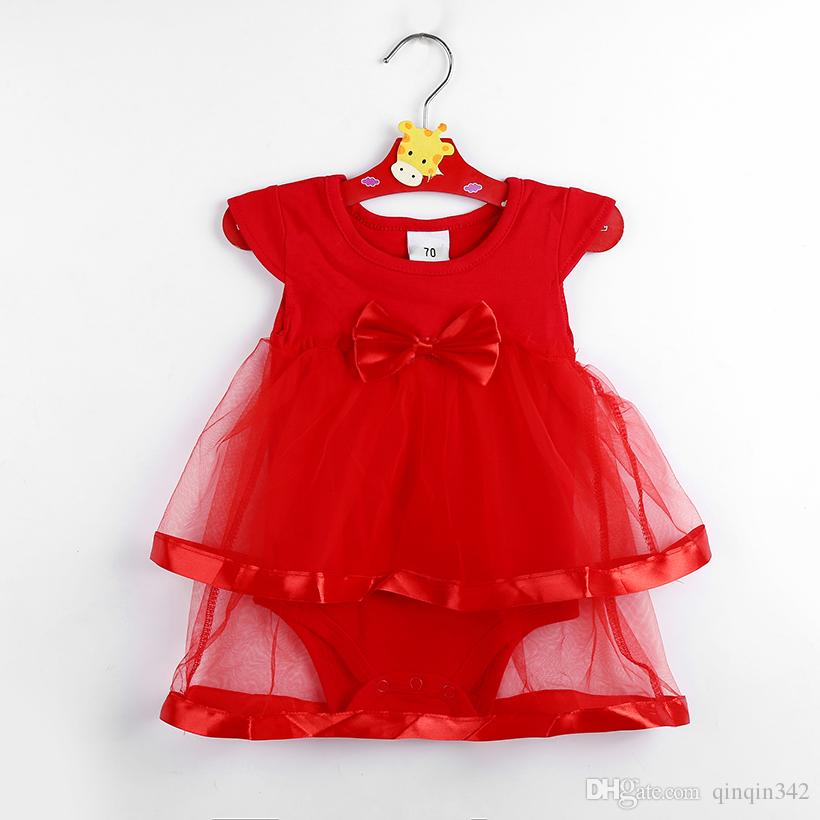 e69fb62a85bff Hot Sale NewBorn Baby Dress Summer Cotton Bow Baby Rompers For girls Summer  Kids Infant Clothes Baby Girls Jumpsuit